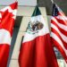The Mexican, US and the Canadian flags sit in the lobby where the third round of the NAFTA renegotiations are taking place in Ottawa, Ontario, September 24, 2017.  The negotiations will go between September 23-27, 2017 in Ottawa.  / AFP PHOTO / Lars Hagberg        (Photo credit should read LARS HAGBERG/AFP/Getty Images)